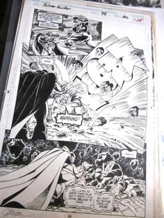 Comic Art from Silver Surfer #98 Page #28 Signed Jim Hall+  WARLOCK, Drax