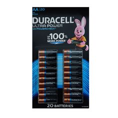 Pack of 20 Duracell Ultra Power Type AA Alkaline Batteries Duracell ultra power alkaline batteries use distinct power check technology Packing, Bag Packaging