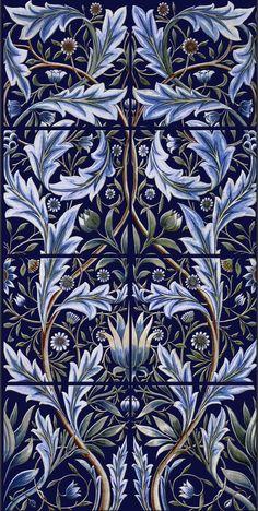 24 New Ideas Art Nouveau Design Pattern Illustration William Morris William Morris Art, Motifs Textiles, Tile Panels, Art Japonais, Pre Raphaelite, Victoria And Albert Museum, Arts And Crafts Movement, Tile Art, Wall Tiles
