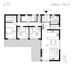 Výstavba rodinných domov - IDEÁLNE DOMY Courtyard House, Facade House, Best House Plans, Modern House Plans, L Shaped House, Japanese Home Design, Modern Small House Design, House Construction Plan, Villa Plan