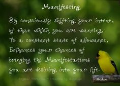 Shifting your intent to a state of allowance increases your chances for manifesting your desires.  #manifestation