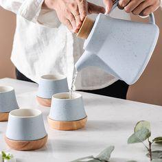 Ceramic Teapots, Ceramic Cups, Porcelain Ceramics, Tea Gift Sets, Tea Gifts, Glass Tea Cups, Color Glaze, Tea Pot Set, Tea Tray