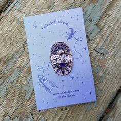Celestial Skein Enamel Pin by LavenderLuneYarnCo on Etsy