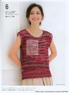 "Photo from album ""Beautiful Crochet Spring-Summer on Yandex. Crochet Shirt, Knit Crochet, Crochet Bags, Crochet Accessories, Beautiful Crochet, Spring Summer, Short Sleeve Dresses, T Shirts For Women, Yandex Disk"