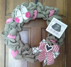 Hey, I found this really awesome Etsy listing at https://www.etsy.com/listing/191416138/its-a-girl-18inch-burlap-wreath