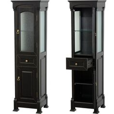 Wyndham Collection Andover Linen Tower Available through our showroom #ACharmedLifeAtHome