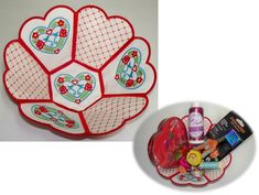 Hearts Treasure Bowl Embroidery Project by Ramona Baird
