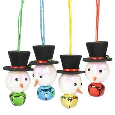 Wear this festive and fun Sparkle Snowman Jingle Bell Necklace during the Holiday Season or give it to someone as a gift. PLEASE NOTE: These Snowman Jingle Bell Necklaces are sold separately. The color of this item can be requested when ordering but not guaranteed. One Sparkle Snowman Jingle Bell Necklace measuring 17.5 inches per package.