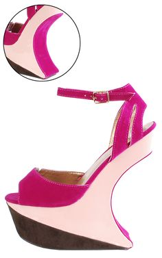 suede X patent invisible heel @ www.makemechic.com/p-42950-qoors08-heel-less-sculpted-mary-janes-fuchsia.aspx