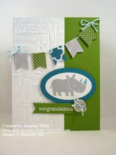 Welcome Baby Colton! by mandypandy - Cards and Paper Crafts at Splitcoaststampers