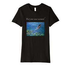 Trust your inner mermaid Trust Yourself, Branded T Shirts, Fashion Brands, Whimsical, Mermaid, Wisdom, Amazon, Mens Tops, Stuff To Buy