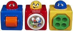 Fisher Price Toy - Brilliant Basics - Stacking Action Blocks - Enrich Baby Development