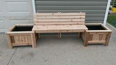 Bench planter combo