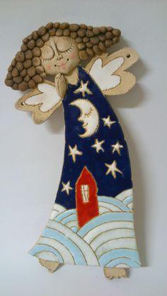 Anděl - kuličkový vklasy Anděl- obrázek +-30.5 cm na pověšení na stěnu
