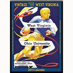 Vintage West Virginia Mountaineers Football 2015 Poster Calendar: 9781630360825     Calendars.com