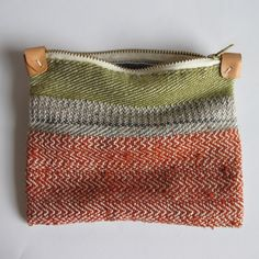 handwoven pouch - anntorian Learning to weave so I can produce fabric like this on my Lap loom or a rigid heddle which is likely my next purchase to enable this hobby.