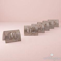 Laser Cut Self Standing Metal Table Number Set - Weddingstar