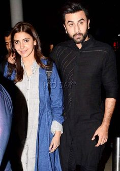 Anushka Sharma was dressed in chic casuals while Ranbir Kapoor sported a black kurta at Mumbai airport. #Bollywood #Fashion #Style #Beauty #Hot #Sexy