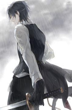 «雨の中の戦闘とか»  燭台切光忠【刀剣乱舞】Mitsutada | Touken Ranbu