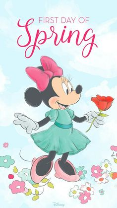 Minnie Mouse  first day of spring