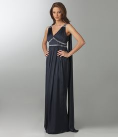 JS Collections Sleeveless Beaded Gown | Dillards.com
