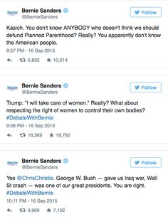 Bernie Sanders Roasts GOP Debate on Twitter: Can They Talk About Anything Besides Wanting to Go to War? | Alternet