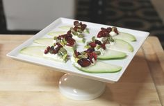 mint love social club: {easy appetizer: goat cheese pear slices}