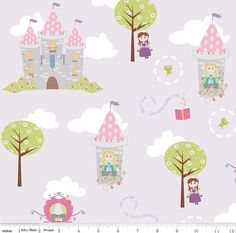 Dream and A Wish Main on Purple From Riley Blake's Dream