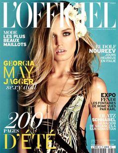Georgia May Jagger by Lorenzo Bringheli for LOfficiel Paris June/July 2013