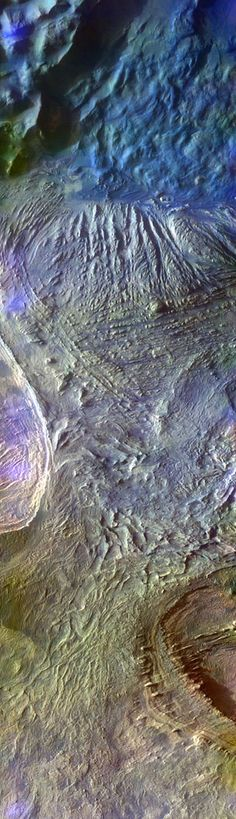 Edited Mars Odyssey image of semi-organized rubble in Candor Chasma Stuart Rankin Mars Pictures, Hubble Pictures, Sistema Solar, Nasa Solar System, Craters Of The Moon, Planetary Science, Galaxy Space, Gods Creation, Dark Matter