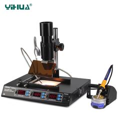 450.00$  Watch here - http://alir6n.worldwells.pw/go.php?t=1607941830 - YIHUA 1000A BGA Rework Station, Laptop Motherboard Repairing, BGA Machine, Reballing Kit, Welding, IR Station, SMD Tools