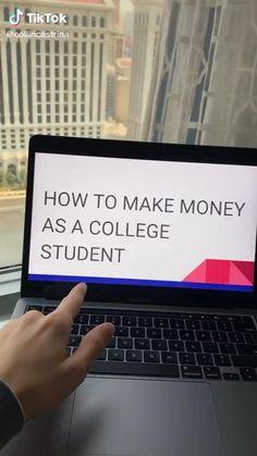 College Life Hacks, Teen Life Hacks, Life Hacks For School, School Study Tips, Life Hacks Websites, Useful Life Hacks, Online Jobs For Teens, Making Money Teens, Ways To Get Money