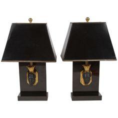Pair of Maison Jansen Nubian Lamps 1