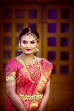 New South Indian Bridal Wear Beautiful 62 Ideas Bridal Sarees South Indian, South Indian Bridal Jewellery, Indian Bridal Wear, South Indian Bride, Indian Jewelry, Bridal Jewelry, Gold Jewelry, Kerala Bride, Hindu Bride