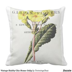 Vintage Shabby Chic Home: Oxlip Throw Pillow