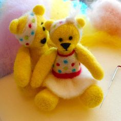 Pudsey meets his new wife! New Wife, Teddy Bears, Toys, Sweet, Animals, Activity Toys, Candy, Animales, Animaux