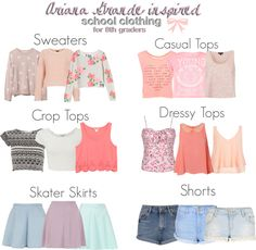 Ariana Grande inspired school essentials for 8th graders. *Requesed* Some items…