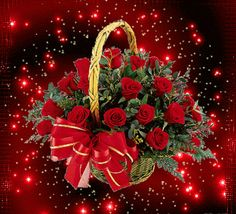 The perfect Basket Red Roses Animated GIF for your conversation. Discover and Share the best GIFs on Tenor. Roses Gif, Flowers Gif, Beautiful Bouquet Of Flowers, Love Flowers, Beautiful Gif, Beautiful Roses, Gif Bonito, Beau Gif, Love You Gif