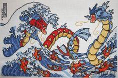 Pokemon Great Wave Cross Stitch by LordLibidan on DeviantArt
