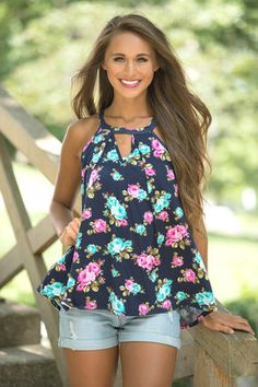 Radiant As A Rose Floral Tank