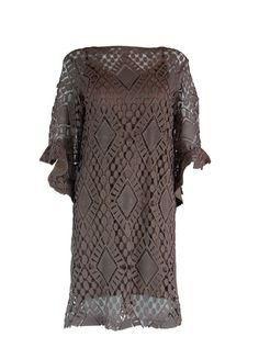Judith March Mocha Lace Dress