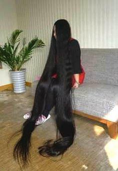 Super long healthy hair