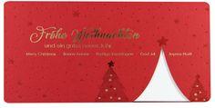 Rot - die Farbe der Liebe - macht sich auch auf #Weihnachtskarten hervorragend! Merry Christmas, Red, Love, Christmas, Merry Little Christmas, Wish You Merry Christmas
