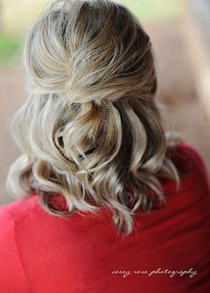 Half french twist. This girl has a cute hairstyle blog w/tons of helpful tutorials. Fantastic.