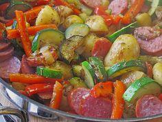 Feurige Kartoffelpfanne, ein gutes Rezept aus der Kategorie Gemüse. Bewertungen…