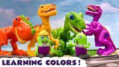 Learn Colors with Dinosaurs Trains Cars and the funny Funlings TT4U Dinosaur Train, Train Car, Learning Colors, Dinosaurs, Toy Story, The Funny, Kids Toys, Trains, Dinosaur Stuffed Animal