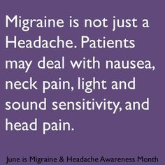 Migraine is not just a headache. Hey you forgot the sensitivity to chemical smells!