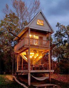 Our wedding night treehouse at Camp Wandawega. Elkhorn, Wisconsin.