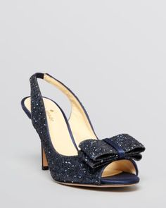 kate spade new york Open Toe Slingback Evening Pumps - Charm High Heel | Bloomingdale's