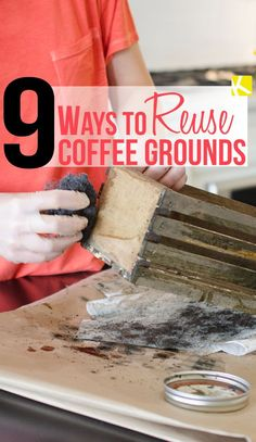Don't toss your used coffee grounds! Add them to your garden as compost, or dry them out and reuse them for a variety of really...